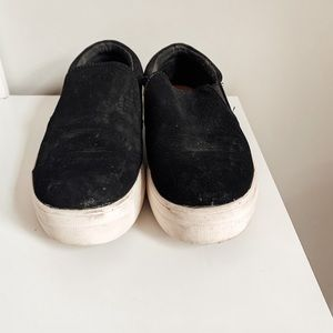 Brash Black Slip-On Sneakers